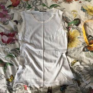 ELIE TAHARI white light knit sleeveless top